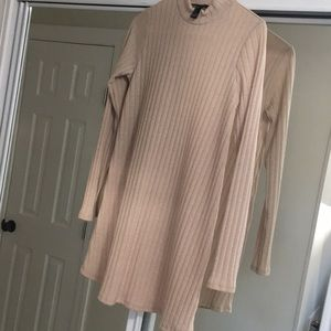 Size S tan never worn sweater dress